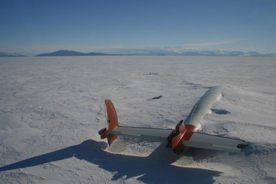 17. A Pegasus maradványai, McMurdo Sound, Antarktika