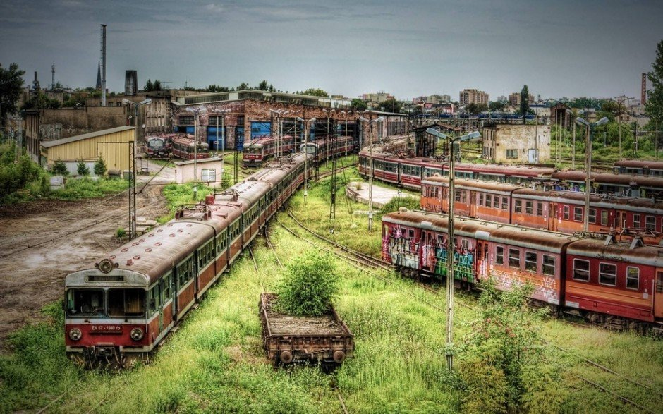 25. Czestochowa, elhagyatott vonat depó