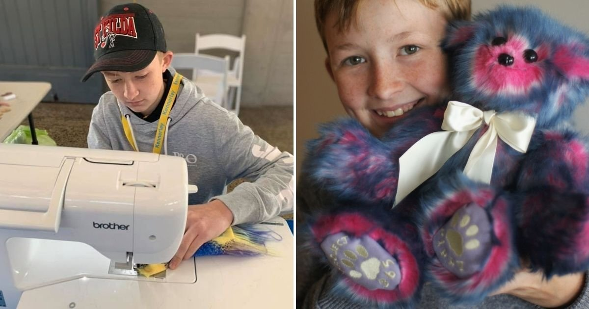 A kisfiú megtanult varrni, hogy játékmackókat készítsen a beteg gyerekeknek!