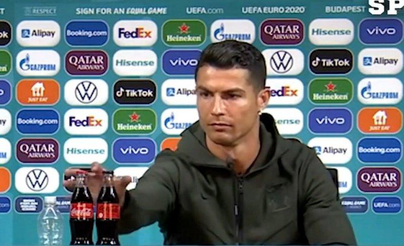Cristiano Ronaldo kiakadt, mert kólát raktak elé Budapesten