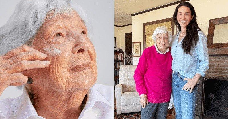 Akárcsak egy profi modell, úgy pózolt a 99 éves dédnagymama