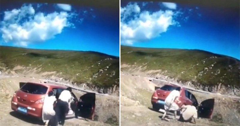 A vérfagyasztó pillanat, amikor egy család autója a szakadékba zuhan, benne egy utassal