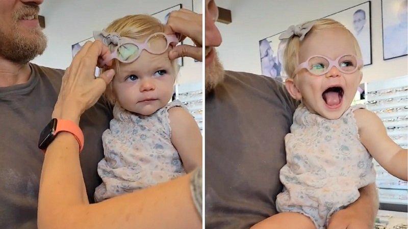 Így reagált a kislány, aki szemüveget kapott és életében először élesen látta a világot